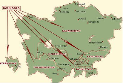 Caucasian Map Rug